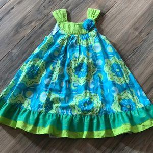 Penelope Mack 3T girls flower print dress